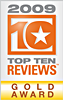 TopTen Review Gold Award